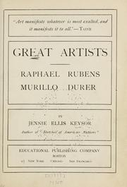 Cover of: Great artists