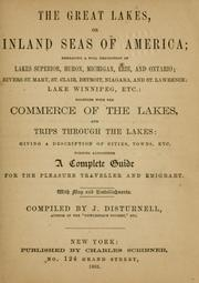 The Great Lakes, or Inland seas of America by Disturnell, John
