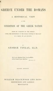Greece under the Romans by George Finlay