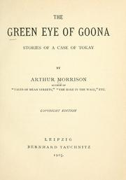 Cover of: The green eye of Goona