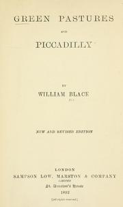Cover of: Green pastures and Piccadilly. | Black, William