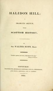 Cover of: Halidon Hill | Sir Walter Scott