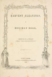 Cover of: Harvest gleanings