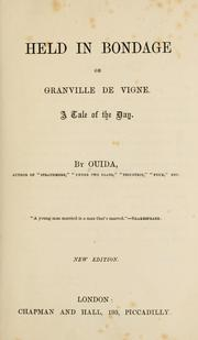 Cover of: Held in bondage