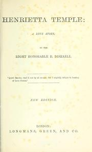 Cover of: Henrietta Temple (A Love Story)
