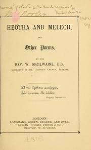Cover of: Heötha and Melech | William MacIlwaine
