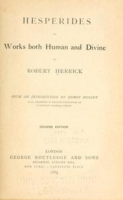 Cover of: Hesperides | Herrick, Robert