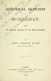 Historical sketches of Monaghan by Denis Carolan Rushe