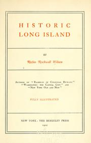 Cover of: Historic Long Island