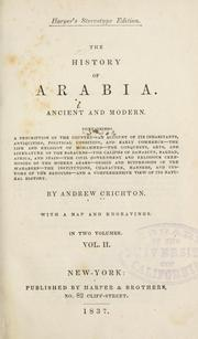Cover of: History of Arabia, ancient and modern