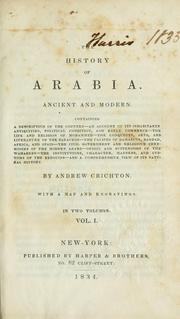 Cover of: The history of Arabia