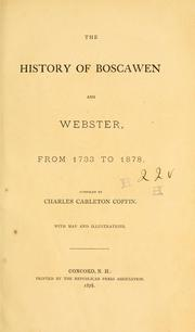 Cover of: The history of Boscawen and Webster [N.H.] from 1733 to 1878