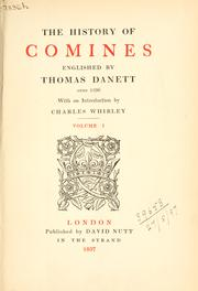 Cover of: The history of Comines