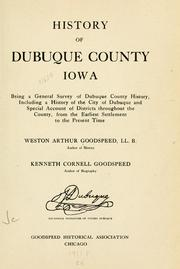 Cover of: History of Dubuque County, Iowa by Franklin T. Oldt
