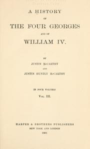 Cover of: A history of the four Georges and of William IV
