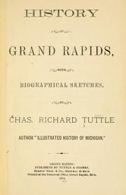 Cover of: History of Grand Rapids