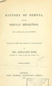 Cover of: Serbische revolution: from original MSS. and documents.