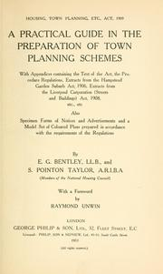 Cover of: Housing, town planning, etc., act, 1909 | Edmund George Bentley