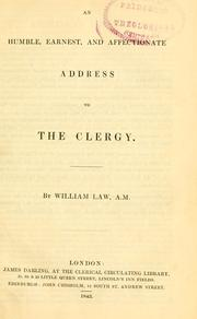 Cover of: An humble, earnest, and affectionate address to the clergy