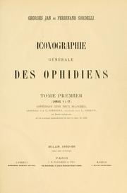 Cover of: Iconographie g©n©rale des ophidiens