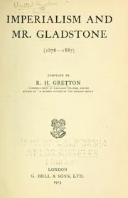 Cover of: Imperialism and Mr. Gladstone (1876-1877)
