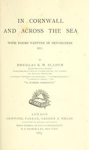 Cover of: In Cornwall and Across the sea: with poems written in Devonshire, etc.