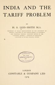 Cover of: India and the tariff problem | Hastings Bertrand Lees-Smith