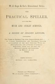 Cover of: The practical speller |