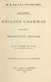 Cover of: English grammar adapted for the different classes of learners