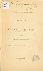 Cover of: Inquiries relative to the Philippine Islands