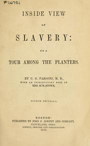 Cover of: Inside view of slavery