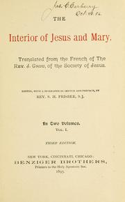 Cover of: The interior of Jesus and Mary | Loyd Avery