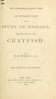 Cover of: An introduction to the study of zoology