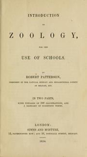 Cover of: Introduction to zoology..