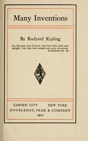 Cover of: Many inventions | Rudyard Kipling