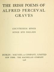 Cover of: The Irish poems