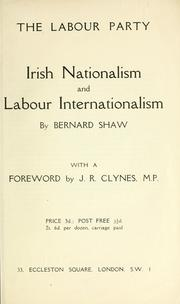 Cover of: Irish nationalism and labour internationalism