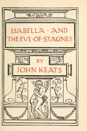 Cover of: Isabella and The eve of St. Agnes