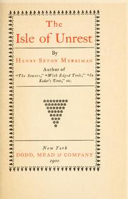 Cover of: isle of unrest | Merriman, Henry Seton