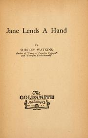 Cover of: Jane lends a hand