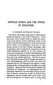Cover of: Kantian Ethics and the Ethics of Evolution: A Critical Study