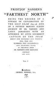 "Cover of: Farthest North: Being the Record of a Voyage of Exploration of the Ship ""Fram"" 1893-96, and of a ..."
