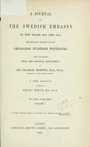 Cover of: A journal of the Swedish Embassy in the years 1663 and 1664