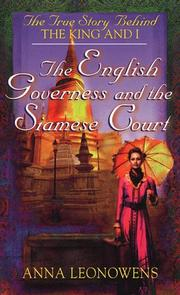 Cover of: The English Governess and the Siamese Court