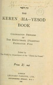 Cover of: The Keren ha-Yesod book by Palestine Foundation Fund
