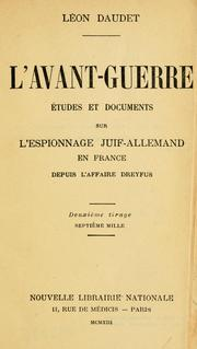 Cover of: L' abant-guerre