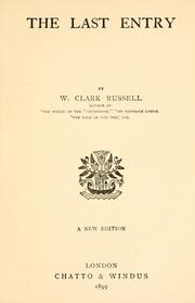 Cover of: The last entry