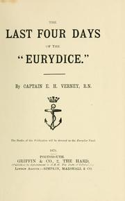 "Cover of: The last four days of the ""Eurydice."""