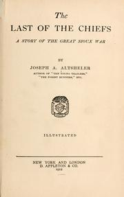 Cover of: The Last Of The Chiefs