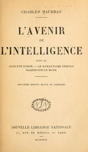 Cover of: L' avenir de l'intelligence